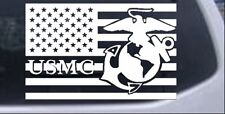 US American Flag USMC Marines Car or Truck Window Laptop Decal Sticker 3X4.7