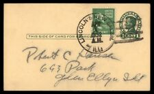 Lincoln'S New Salem Illinois Apr 1 1952 Lincoln Issue Card To Glen Ellyn