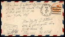 1944 APO 79 postal stationery cover censored to St. Paul