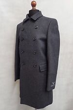 Men's Marks & Spencer's Autograph Overcoat Houndstooth Black Grey Coat SS8067