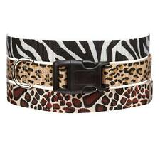 ANIMAL PRINT DOG COLLAR 3 Safari Patterns Collars for Dogs - 4 Sizes Available
