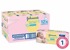 12 x 56 Pack = 672 Johnson's Johnson Extra Sensitive baby wipes Fragrance Free