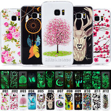 Painted Gel Skin Silicone Soft TPU Shell Case Luminous Pattern Cover For Samsung