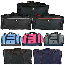 Travel Suitcase Luggage Heavy Duty Duffle Wheelie Bag Holiday Holdall Zip Carry