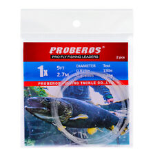 10px Tapered Leader Fly Fishing Line 9FT 0X-6X Nylon Fly Fishing Leader Clear