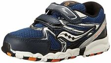 SAUCONY Cohesion 6 Boys Size 4.5 M (Toddler) Navy Leather Running Shoe, $50, NEW