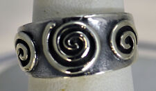 Celtic swirl tattoo spiral Real Sterling silver .925 jewelry Ring Pick your size