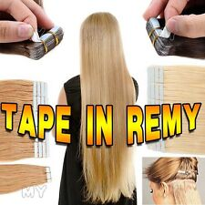 "US STOCK 16"" 18"" 20"" 22"" 24"" Remy Tape In Straight 100% Human Hair Extensions BS"