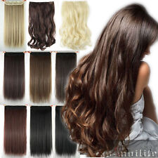 One Piece Full Head Clip in Hair Extensions Human Straight Curly Natural Hair Mn