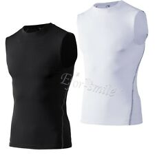 Mens Shirt Tops Under Armour Base Layer Compression  Thermal Tights Gym T-Shirts