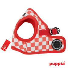 Dog Puppy Harness Soft Vest- Puppia - Grand Prix - Red - Choose Size