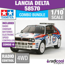 COMBO DEAL! 58570 TAMIYA LANCIA DELTA TT-02 1/10th R/C RADIO CONTROL 1/10 KIT