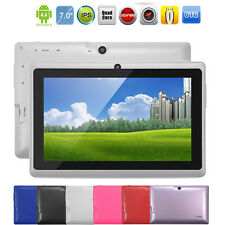 "Unlocked 7"" Android 4.4 Quad Core WiFi Dual Camera 4GB Bluetooth Tablet PC HOT"