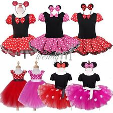 Girls Baby Toddler Minnie Mouse Xmas Outfit Party Fancy Tutu Dressing up Costume