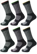 6 Pairs Mens Kato Work Boot Socks Hard Wearing Warm Cushioned Support