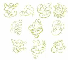 Gilded Doves Redwork Collection Machine Embroidery Designs-40 Anemone Embroidery