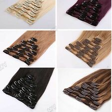 Best Quality Thick Double Weft Clip in 100% Remy Human Hair Extensions UK BS106