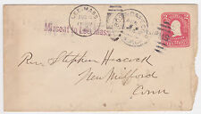1904 Missent Postal cover BOSTON CAPE COD RPO Lee & New Milford Mass.