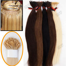 Pre bonded stick/i tip real remy human hair extensions micro tip U Nail Tip JY01