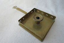 ATTRACTIVE VINTAGE BRASS GALLERIED SQUARE FINGER CANDLESTICK