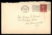 KINGSTON NEW YORK APR 8 1921 SINGLE FRANKED COVER TO NEW BRUNSWICK NEW JERSEY