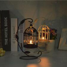 Black/White Birdcage Lantern Tea Light Candle Holder Candlestick Stand Decor
