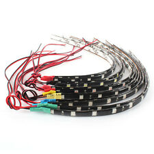 Hot 2PC 12 LEDs 30cm 5050 SMD LED Strip Light Flexible 12V Car Decor Waterproof