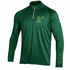South Florida Bulls Under Armour 1/4 Zip Performance Top - Hunter Green - NCAA
