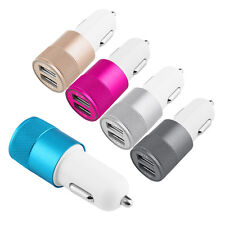 Car Charger Adaptor Bullet Dual Mini USB 2-Port for Apple iPhone 7 S 6 Samsung G