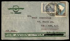 Argentina Buenos Aires airmail colorful franking on cover to New York City