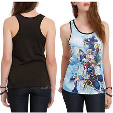 Disney Kingdom Hearts Group Sublimation BLACK Racerback Racer Back Tank Top