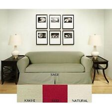 Brushed Twill Cotton Sofa 2-piece Slipcover