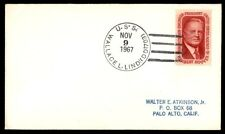 USS WALLACE L LIND DD 703 NOV 9 1967 US 5c HERBERT HOOVER ISSUE NAVAL COVER