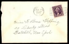 Hemstead New York Feb 10 1936 Single Franked Cover To Catskill