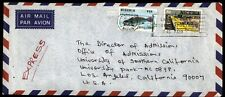 Nigeria airmail cover with world fishery issue to Los Angeles US