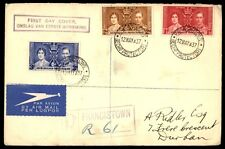 Bechuanaland 1937 Coronation REgistereD FDC Francistown