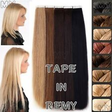 8A 100% Remy Human Hair Extensions Seamless Tape In Skin Weft 16-26 inches BS045