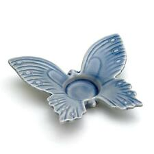 BULK LOTS Blue Butterfly Stoneware Tealight Candle Holders