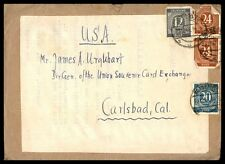 Germany Multifranked Cover To Carlsbad California Usa Souvenir Card Exchange