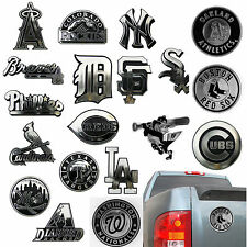 New MLB Pick Your Team 3-D Chrome Plastic Auto Car Truck Emblem Made in USA