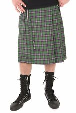 Lip Service Green Purple Plaid Kilt w Suspenders Mens Small Medium Made in USA