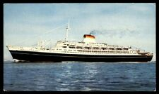 Gibraltar Postally Used 1963 Italia Ship Chrome Picture Postcard to US