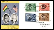 1958 Prime Minister USA Canada Ghana first-day cover with cachet