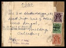 India Colorful Franking Cover To Calcutta India Government