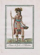 1780 - Tahuata Marquesas islands French Polynesia Oceania natives antique print