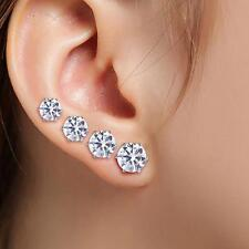 10 Pairs/Set Unique Crystal Earrings Silver/Gold Plated Zircon Ear Stud Jewelry