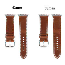 Leather Wrist Strap Bands Replacement Bracelet For Apple Watch iWatch Series 1 2
