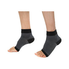 Unisex Stripes Pattern Compression Foot Ankle Support Ankle Sleeve