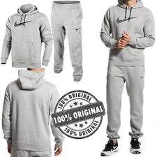 NIKE MEN'S SWOOSH LOGO FLEECE FULL TRACKSUIT OVERHEAD HOODIE JOGGING BOTTOMS