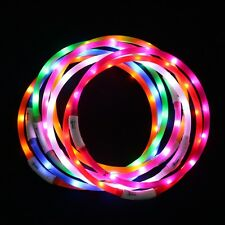USB Rechargeable Waterproof LED Flashing Light Band Belt Safety Pet Dog Collar